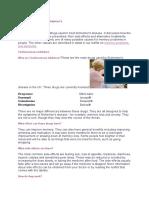 Drug Treatments in Alzheimer