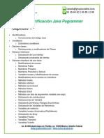Curso de Certificacion de Java Programmer
