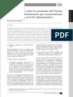 Conclusion Del Proceso Constencioso Admnistrativo Por Reconocimiento de La Pretension en via Admnistrativa