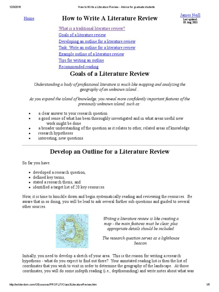 Introduction to literature reviews - Research & Learning Online