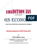 Indian Economy GS Prelims 2016
