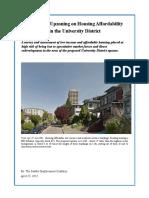 SDC - U District Housing Survey Revised