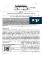 Food Processing, Food Spoilage and their Prevention