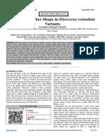 Stability of Tuber Shape in Dioscorea rotundata Variants