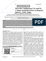 Distribution, Diversity, Indigenous Use and its Utilization of the Ethno medicinal Flora of Rajouri District, J &K, India