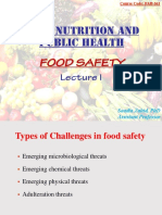 Lecture 1 Food Saftey