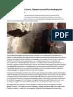 Gianni Carrù, l'Importanza Dell'Archeologia Del Sottosuolo Di Ardea