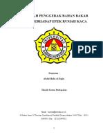 MAKALAH PENGGERAK BAHAN BAKAR FOSIL TERHADAP EFEK RUMAH KACA.docx
