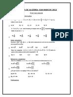 Repaso Algebra - San Marcos