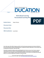 wbl personalized learning plan packet