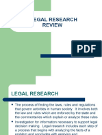 Review of Legal Research