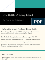 battle of long island and saratoga  1