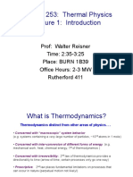 Phys 253 Thermal Physics