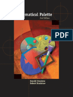 (With BCA_iLrn(TM) Tutorial and InfoTrac) (Advantage Series) Ronald Staszkow, Robert Bradshaw-The Mathematical Palette-Cengage Learning (2004)
