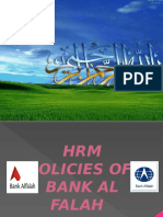 Hrm Policies of Bank Alflah Final