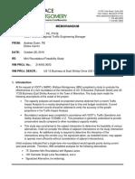 Warrenton Mini Roundabout Summary Memorandum