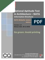 Nata 2017 Information Brochure
