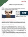 Rae 5 Cambios Nuevo Diccionario Lengua