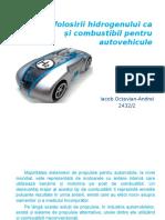 Stadiul Folosirii Hidrogenului CA Si Combustibil Pentru Autovehicule