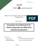 Rapport PFE_Conception d'un bâtiment R+16  Etude comparative de différentes variantes de plancher