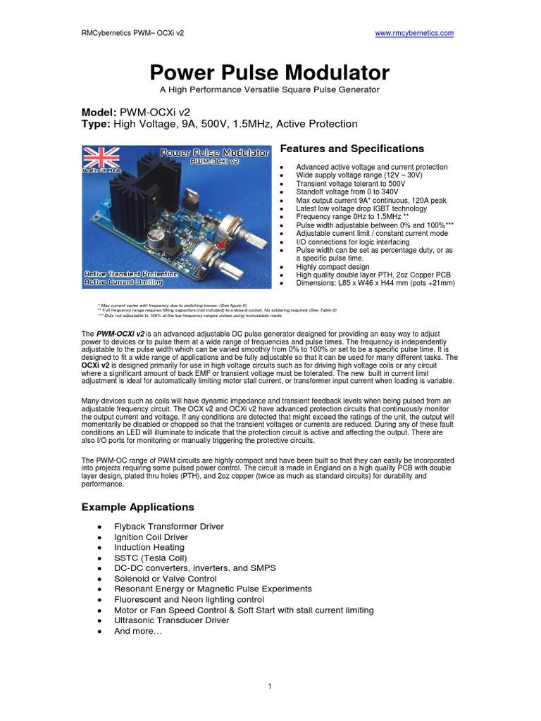 Pwm Ocxiv2pdf Hv Module Power Supply Capacitor Generator Circuit And Ultrasonic Buy