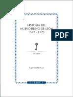 Historia del Nuevo Reino de León, 1577-1723
