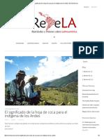 El Significado de La Hoja de Coca Para El Indígena de Los Andes _ Revista Revela
