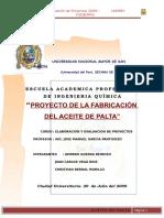 18446765 17631055 Proyecto Fabricacion Del Aceite de Palta