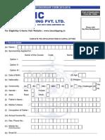 TMC Sponsership Form