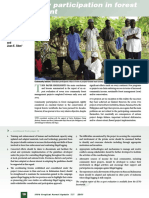 Community participation in forest management