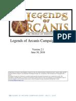 Legends of Arcanis Campaign Guide v2.1