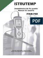 Anemometro Fio Quente Digital Instrutemp ITAN-740