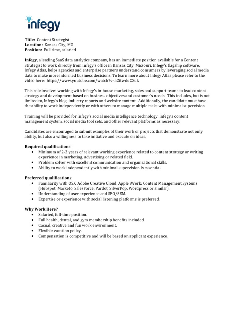 content strategist job description