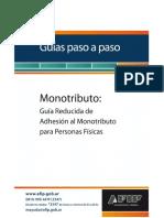 - PasoaPasoAdhesiónMonotributo Simplificado PF