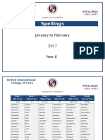 spellings jan to feb 2017 year 6
