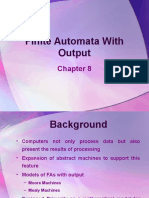 Chapter 08 Finite Automata With Output