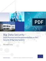 Good Practices and Recommendations on the Security and Resilience of Big Data Services