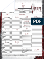 Planilha Vampiro o Requiem Modo Paisagem