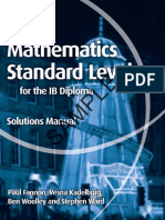 Mathematics Standard Level for the Ib Diploma Solutions Manual Web