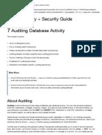 Auditing Database Activity