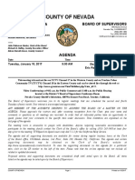 Nevada County BOS agenda for January 10