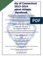 University of Connecticut 2013-2014 Student-Athlete Handbook