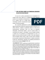 Diez Lecturas Sobre Las Tendencias Recientes en Las Políticas Penales Bombini