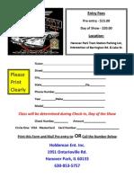 Car Show Entry Form
