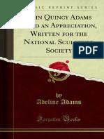 John Quincy Adams Ward an Appreciation