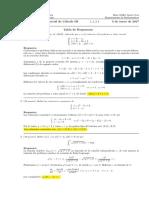 Corrección Segundo Parcial de Cálculo III, 3 de enero de 2017
