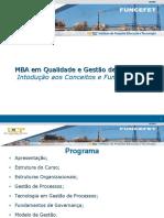 3 - MBA Em Qualidade e Gestão de Processos - Gestão de Processos de Negócio - Fundamentos