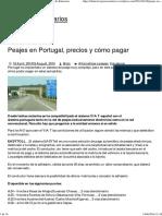 Peajes en Portugal, Precios y Cómo Pagar _ El Blog de Itinerarios