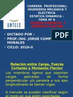 Estatica Dinamica Semana 9 Momento Flector Fuerza Cortante