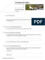 analysis sheet the rabbits to print